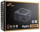 FSP Fortron Hydro 700, 80 plus Bronze Zertifikation, PC Netzteil 700 Watt, kompatibel mit neuesten Standards ATX12V & EPS12V, 5 Millionen US-Dollar Produkthaftungsversicherung, schwarz