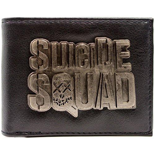 DC Comics Suicide Squad Film-Emblem Schwarz Portemonnaie Geldbörse -