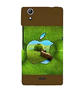 printtech Apple Green Leaf Back Case Cover for Micromax Canvas Selfie Lens Q345