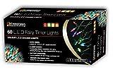 The Christmas Workshop Atelier de Noël LED à Piles Filet Lumineux avec minuteur Multicolore