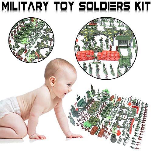Sh-flying toy soldiers sets 519pcs - kit soldatini militari, carri armati, aerei, elicotteri, figure di simulazione di campi di battaglia, giocattoli per bambini, 519pcs