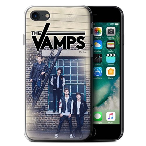 Offiziell The Vamps Hülle / Gel TPU Case für Apple iPhone 7 / Skizzieren Muster / The Vamps Fotoshoot Kollektion Tagebuch