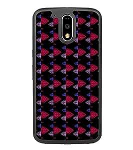 Colourful Pattern 2D Hard Polycarbonate Designer Back Case Cover for Motorola Moto G4