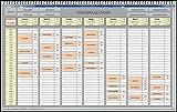Elektronischer Terminplaner Terminbuch für Kosmetik Studios Fitnessstudios Nagelstudios Sonnenstudios Friseursalons auf der Basis von MS Excel