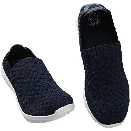 Alexis Leroy Slip-ons Profilsohle Sportschuhe Sneakers Damen Halbschuhe Slipper Blau