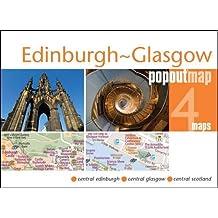 Edinburgh & Glasgow Popout Map (Popout Maps)