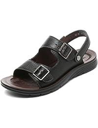 4c762d51ef36 Sandales D été en Cuir pour Hommes Chaussures De Plage Slip on Flip Flops  Open