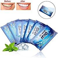 Tiras para blanquear los dientes, 50 piezas Toallitas húmedas para limpiar los dientes Limpiar la herramienta de limpieza del diente del paño para los tratamientos de limpieza profunda oral para el cu