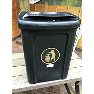 Advancedscape Plastic Litter/General Waste Bin For Wall or Post Mounting in BLACK
