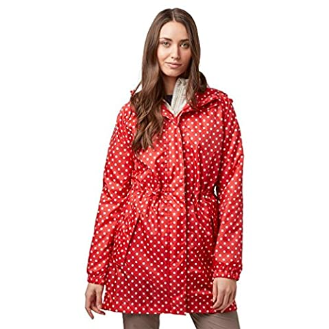 Peter Storm Women's Parka in a Pack Jacket, Red, 14
