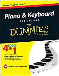 PIANO AND KEYBOARD ALL IN ONE FOR DUMMIES [Paperback]