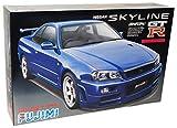 Nissan Skyline R34 R 34 Gt-r Coupe Blau Bausatz Kit 1/24 Fujimi Modellauto Modell Auto