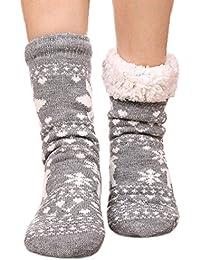 7d74d9ef4a0 FRALOSHA Femme Hiver Chaussettes Garde au chaud Peluche Épaississement  Chaussettes d hiver