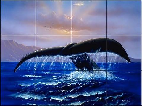 Sunrise Dive par Jeff Wilkie | Carrelage mural pour cuisine dosseret | Salle de bain Carrelage