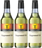 (3 PACK) - Meridian - Natural Grapeseed Oil | 500ml | 3 PACK BUNDLE