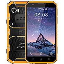 Kenxinda Proofings W9 4G LTE Smartphone IP68 Waterproof Shockproof 6.0 inch FHD Screen 16GB/2GB MTK 6753 Octa Core Android 6.0 Camera 8MP Military Grade Mobile Phone (Yellow)