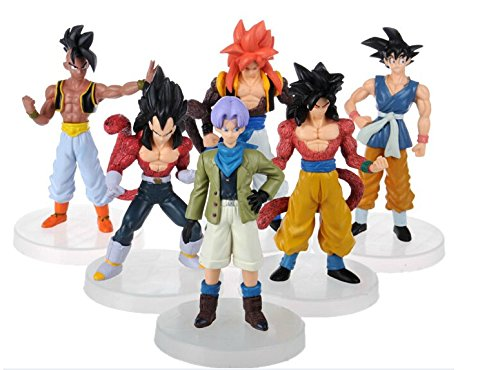 Dragon Ball - Goku - figures-with plastic bag- set 6 - 12cm