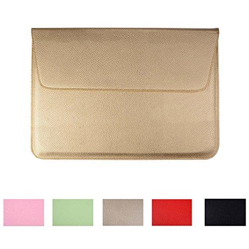 13 Zoll Notebook Tasche Ultra Dünn. Asnlove Litchi PU Leder Tasche Hülle für 33-33,8 cm (13-13,3 Zoll) MacBook Pro / Air Kunstleder Tasche Laptop Hülle Notebooktasche Laptoptasche Business-Aktentasche für Macbook Air/ Pro Retina 12,9 Zoll iPad Pro, Asus, Acer, HP, Sony, Dell, Lenovo Motiv Golden