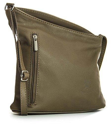 Big Handbag Shop, Borsa a tracolla donna One Marrone (Dark Taupe)