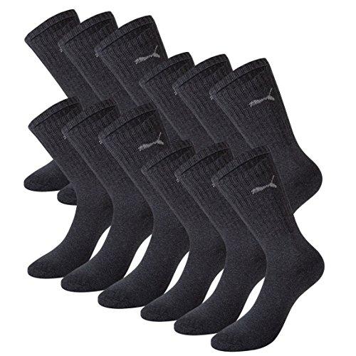 PUMA Unisex Crew Socks Socken Sportsocken anthracite 201 - 35/38 12er Pack
