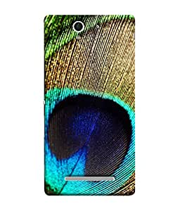PrintVisa Designer Back Case Cover for Sony Xperia C3 Dual :: Sony Xperia C3 Dual D2502 (Peacock Feather With Beautiful Colours)