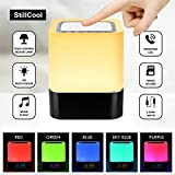 StillCool Lampe de Chevet LED Touch Portable Avec Enceinte Bluetooth Réveil Alarme Horloge FM Lecture de MP3 Support TF Carte AUX-IN USB Rechargeable Mains Libres