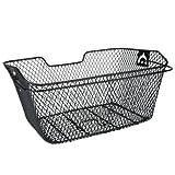 Fischer Fahrradkorb für Gepäckträger, engmaschig, schwarz