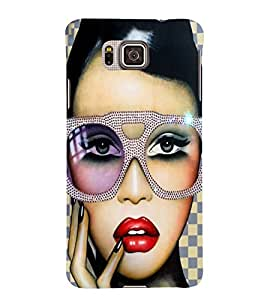 PrintVisa Fashion Model Modern 3D Hard Polycarbonate Designer Back Case Cover for Samsung Galaxy Alpha :: Samsung Galaxy Alpha S801 :: Samsung Galaxy Alpha G850F G850T G850M G850FQ G850Y G850A G850W G8508S :: Samsung Galaxy Alfa