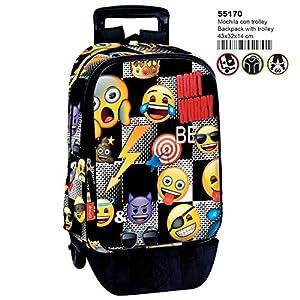 51DlGDD8htL. SS300  - Emoji- Trolley, Color Multicolor (Multicolour), 43 cm (Montichelvo 55170)