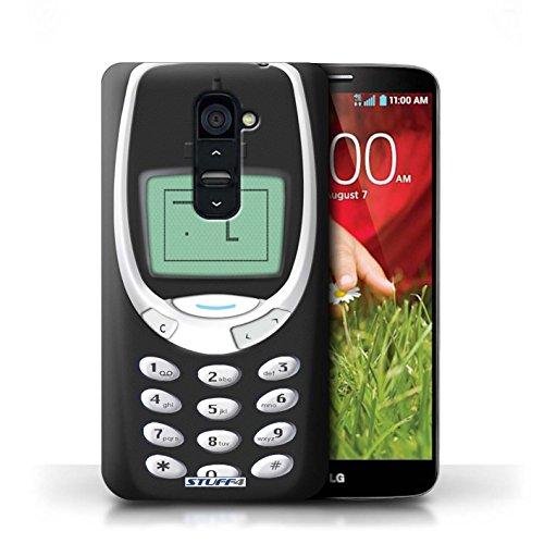 Kobalt® Imprimé Etui / Coque pour LG G2 / Nokia 8210 blanc conception / Série Portables rétro Nokia 3310 noir