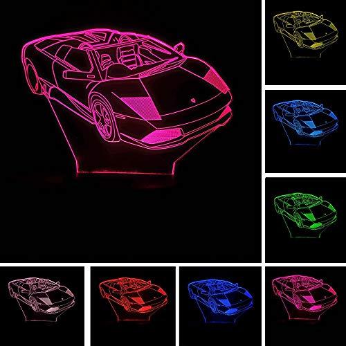 Deluxe Super 3D Sport Auto Racing 7 Farbverlauf Lampe Visuelle Led Usb Touch Nachtlichter Kinder Tisch Lampara Baby Schlafen Geschenke Deluxe Adult Toy
