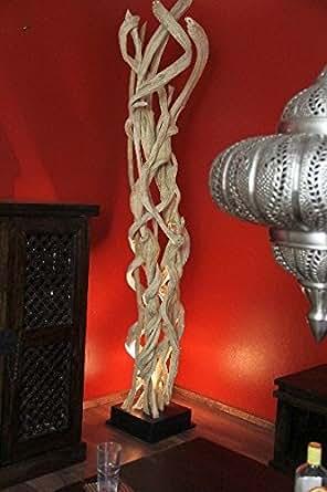 stehlampe stehleuchte bodenlampe holz massiv lianen. Black Bedroom Furniture Sets. Home Design Ideas