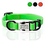 ChicDog Personalisierte Hundehalsband als ID-Tag Gravur mit Namen Custom Halsbänder für Kleine Mittel Große Hunde Wasserdicht Hot Pink/Grün/Schwarz Hundehalsband Gril Boy Ohne Noise Breakaway