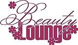 GRAZDesign 850025_30_821 Wandtattoo Swarovski für Badezimmer Schriftzug Beauty Lounge | Wand-Deko mit Sprüchen/Zitaten (52x30cm//821 Magnolia//Swarovski Elements Set 12 Stück)