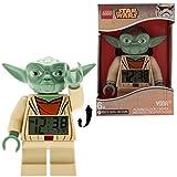 LEGO Star Wars 9003080 Sveglia retroilluminata per bambini minifigure Yoda | plastica | 24 cm di altezza | Schermo LCD | verde/giallo | per i bambini | ragazza/ragazzo