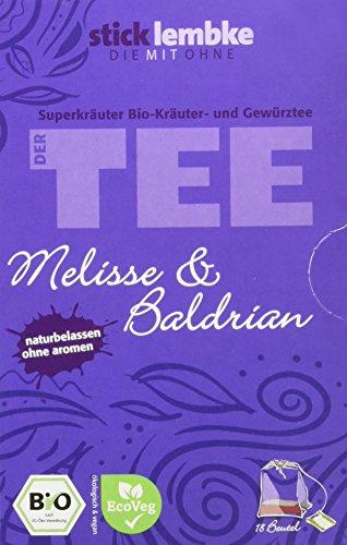 stick lembke/Superkräuter/Naturbelassener BIO Kräuter- und Gewürztee/Melisse & Baldrian/5er Pack...