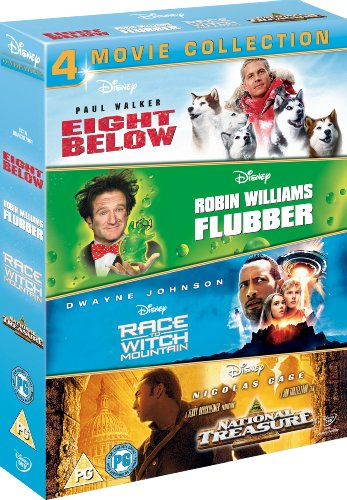 Eight Below/Flubber/Race To Witch Mountain/National Treasure (4 Dvd) [Edizione: Regno Unito]
