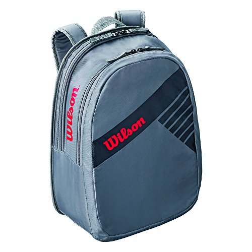 Wilson Kinder Tennis-Rucksack, für Junge Nachwuchsspieler, Junior Backpack, Einheitsgröße, Grau, WRZ644895