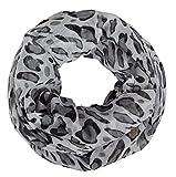 IWEA Loop Damen Schal und Tuch Schlauchschal in Leopardenstyle Animal Print IW004