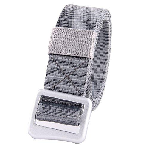 Cintura in Tessuto Nylon Regolabile per gli uomini donne MIJIU Cintura Nylon di fibbia in lega di zinco