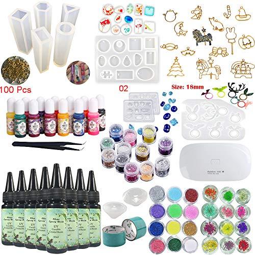 8 piezas 30 ml resina epoxi cristal adhesivo UV, 1