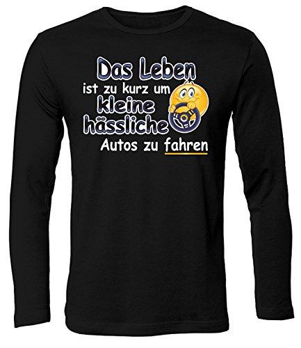 love-all-my-shirts Das Leben ist Zu Kurz Um Kleine Hässliche Autos Zu Fahren 4558 Herren Longsleeve (HL-SW) Gr. XXL