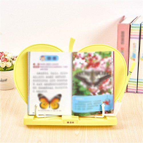 Libro de libros creativos 33 * 25 cm Estantería de lectura Estantería de lectura Estantes de lectura Azul Amarillo ( Color : Amarillo )