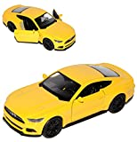 alles-meine.de GmbH Ford Mustang VI Coupe Gelb Ab 2014 ca 1/43 1/36-1/46 Welly Modell Auto