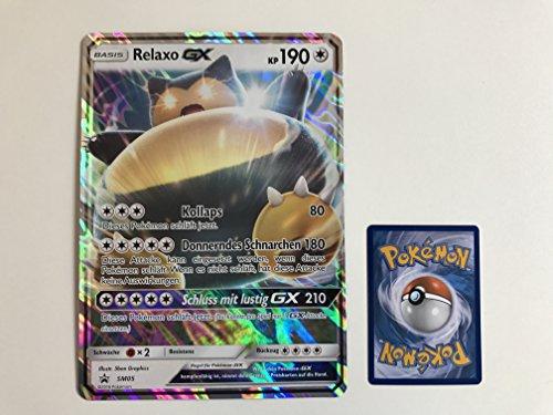 übergroße holografische Karte Relaxo GX SM05 190KP (Neue Pokemon Karten Ex Mega)