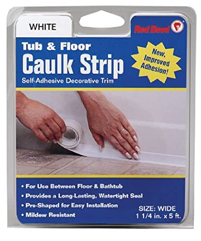 Red Devil 0170 Caulk strip Tub & Wall Wide White 1 1/4-inch by 5-feet by Red Devil