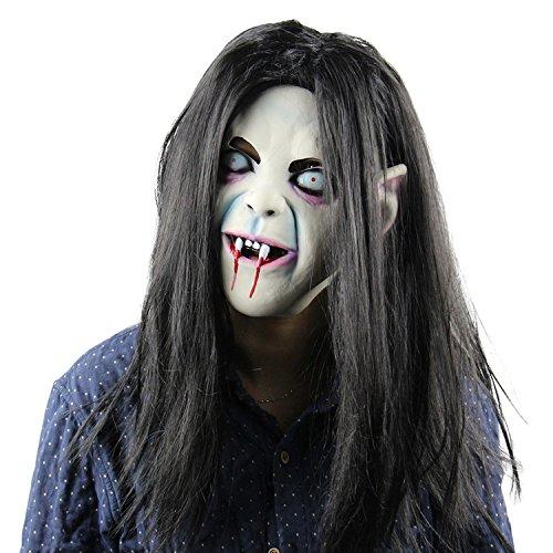 Zombie Halloween Maske scary Latex Kopf Maske blutigen Cosplay Kostüm Vollmaske für Karneval Festival Ball Party von yunhigh
