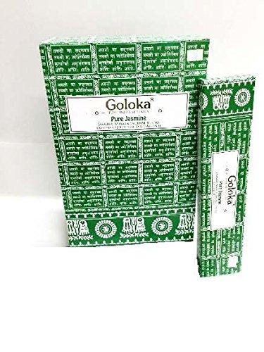 GREEN TREE CANDLE 8906051434035 Goloka Pur Jasmine Bâtons d'encens 15 g