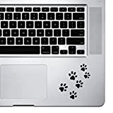 Fusion Graphix Paw Prints Lapton skin Stickers - Black (pack of 6)