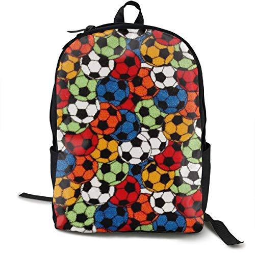 Qfunny Casual Rucksack Schultasche Whisper Soccer Travel
